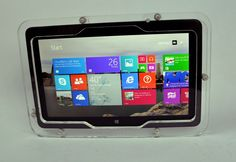 for Dell Venue 11 Pro. Compatible with Dell Venue 11 Pro. Vesa Mount, Kiosk, Clear Acrylic, Display, Store, Floor Space, Billboard, Larger, Shop
