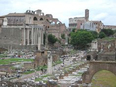 Ruins from a civilization whose people were so unbelievably ahead of their time. The Roman Forum in Rome, Italy.