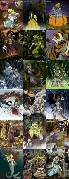 Twisted Princesses from DeviantArt- Really cool!