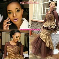 beauty of shweshwe dresses top of africa 2020 African Traditional Wedding Dress, Traditional Wedding Attire, Traditional Fashion, African Attire, African Dress, African Outfits, African Beauty, African Fashion, Women's Fashion