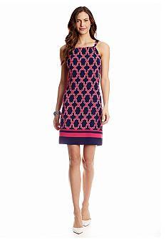 crown & ivy™ Quatrefoil Halter Neck Dress - Belk.com