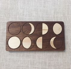Moon Phases Puzzle Solid Hardwood Waldorf Montessori Toy by FromJennifer on Etsy https://www.etsy.com/listing/291643753/moon-phases-puzzle-solid-hardwood