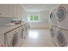 Good grief!!  That's a whole lotta washers and dryers...for one house!!