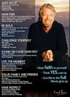 The words of Sir Richard Branson Great Quotes, Me Quotes, Motivational Quotes, Inspirational Quotes, Quotes Positive, Wisdom Quotes, Quotes Images, Daily Quotes, The Words