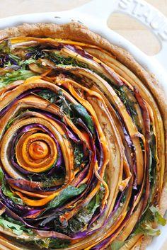 Vegan Spiral Vegetable Tart Recipe