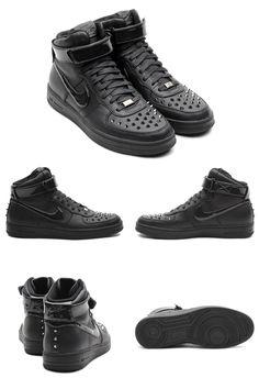 new style 11e2c 83a8a Nike Air Force 1 Downtown Hi Spike Black