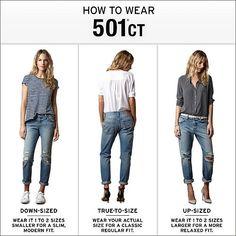 Women's Levi's 501 CT Jeans