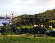 Sausalito looking at the Golden Gate Bridge