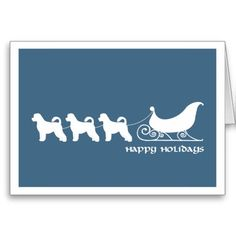 Show your Portuguese Water Dog love on Christmas with this great card!