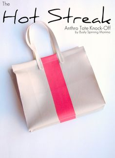 """anthro tote knock-off tutorial from """"busily spinning momma"""""""