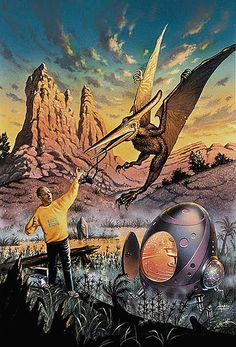 Dinosaurs  spaceships byDavid A. Hardy