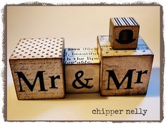 Chipper Nelly; 'Mr. and Mrs.' blocks!