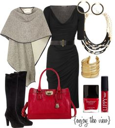 I love this... only I would replace the purse with a red Michael Kors bag