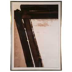 """""""Composition in Brown,"""" Serigraph by Pierre Soulages"""