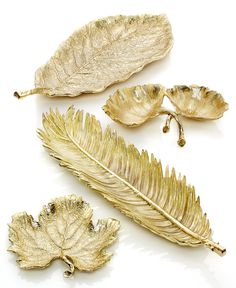 Gold Leaf Serveware Collection - Serveware - Ideas of Serveware - Style is served Michael Aram Gold Leaf serveware collection Olive Oil Cake, Leaf Bowls, French Country Cottage, Cottage Farmhouse, Graduation Party Decor, Decoration Table, Decorations, New Leaf, Serveware