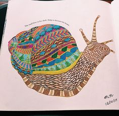 MillieMarotta Colour Color Adultingcolouring Adultcoloring AnimalKingdom WildSavanah Pencilcrayons Prismacolor Inspiration Finished