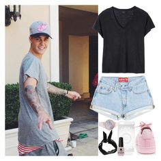 """""""With Justin"""" by angelbrubisc ❤ liked on Polyvore featuring Boohoo, adidas, Michael Kors, Deby Debo and Victoria's Secret"""