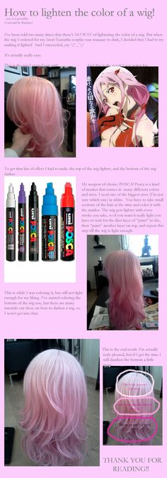 How to lighten a wig by Rirukuo. This would be really great for a Mink wig…