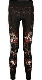 Alexander McQueenFloral-print stretch-jersey leggings