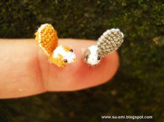 Adorable Crocheted Micro-squirrels!  She has over a hundred different ones in her Etsy shop.
