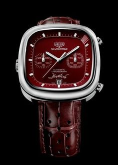 TAG Heuer Silverstone. Red Limited Edition 1 of 1 with Jack Heuer's signature