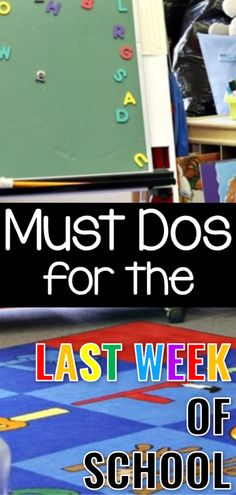 Must Dos for the Last Week of School - Sharing Kindergarten