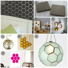 Honeycomb. The fish scale looking thing DIY with hexagons instead would be pretty cool....