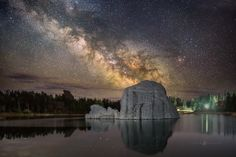 The Milky Way Turtle.  The glow of our galaxy rising over a beautiful rock in Sylvan Lake, Custer, South Dakota.