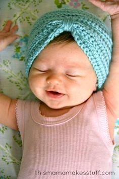 DIY Turban Headband : DIY Crochet Baby Turban Pattern