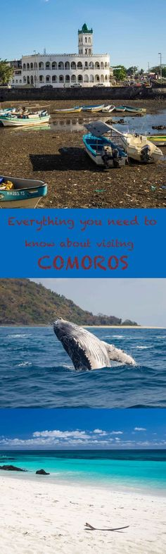 The complete guide to the small country of Comoros in east africa, a paradise with amazing beaches, whales, dolphins, a complete travel guide #AfricaTravelEssentials