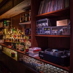 vinyl vice: Photo - picture for you Hifi Bar, Whisky Bar, Whiskey, Jazz Bar, Room Interior, Interior Design, Vinyl Room, Recording Studio Home, Audio Rack