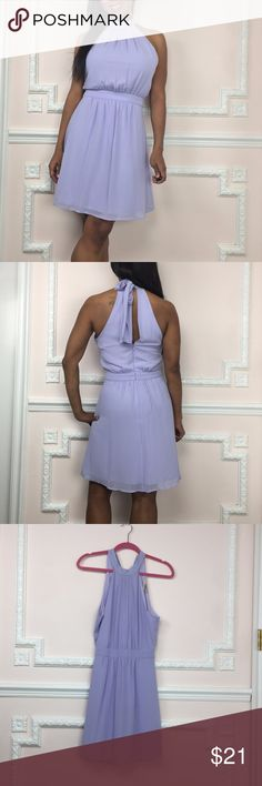 Forever 21 Cute Sheer tie back of neck Small This choker neckline dress ties at the back of the neck and is fully lined. It is a stunning lilac color and has a zip back. Fully lined Inner Tag has been cut.  Sheer overlay on top of satiny inner liner- no stretch. Fits like a 4 I am 5'2 Gently worn & in perfect like new condition. GR78 Size Measurements (Flat unstretched) Length - 25 in. Underarm to bottom hem Bust- 34 in. Waist - 28 In. Hip- 34 in. Visit and follow my closet for HUNDREDS of…