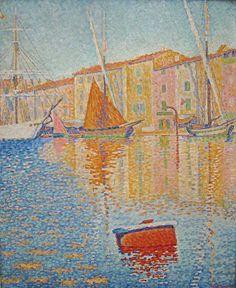 Paul Signac: La bouée rouge (The red buoy), 1895 Photograph by Sharon Mollerus,