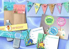 FREE Under the Sea Birthday Printables from NecessiTees | Catch My Party