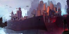 Shipyard by sketchboook on DeviantArt