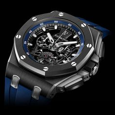The new Audemars Piguet Royal Oak Offshore Tourbillon Chronograph. Limited edition of 20 pieces.
