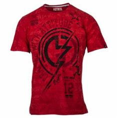 This Red Huetrap graphic tee for men features a lightning bolt over the logo. Shirt Patterns, Rednecks, Lightning Bolt, Cool Tees, Tshirts Online, Attitude, Graphic Tees, Mens Fashion, Logo