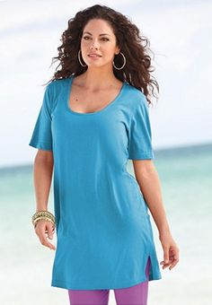 Deep Scoop Neck Max Tunic