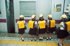 Photo by Harry Gruyaert: Asian school buddies, I love it.