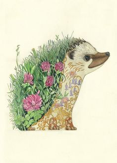 PSYCHOTROPIC ILLUSTRATIONS - Daniel Mackie is an award-winning illustrator who started practicing his craft in 1995. He creates a prismatic/psychotropic visions in watercolor – striking and engagingly esoteric. Each animals richly colored habitat is depicted within its own form, in a style influenced by traditional Japanese prints, vintage Chinese wallpaper, and Art Deco.: