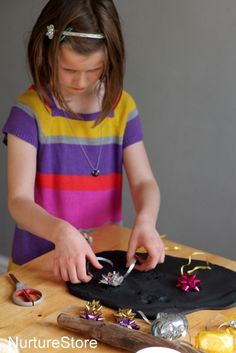 Play dough fireworks!  (Creative, sensory play for New Years Eve, Diwali, 4th July)
