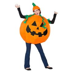Adult Pumpkin Inflateable Costume - One Size Fits Most.