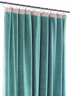 Riche De Luxe Bleu Sarcelle Velours Ameublement Canapés Rideaux Glamour tissus
