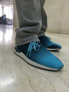 6c6c1cd65ee Adidas ZX Flux ADV ASYM Blue Minera Ombré Asymmetrical Originals