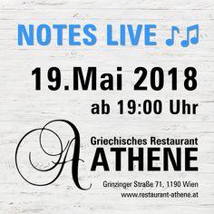 #NotesLive ♪♫ am 19. Mai 2018 ab 19:00 Uhr bei unserem #Frühlingsfest im #Athene. Genießen Sie köstlich #Speis & #Trank und #tanzen Sie mit uns zu #griechischer #Livemusik durch die Nacht! Kosta Liaskos, Nikos Vagias und Theodoti Alexandrou bringen die schönsten #Lieder #Griechenlands, urige #Tavernenhits, #Rebetika und #Bouzouki-Klänge. Kommen Sie mit Familie und Freunden und #feiern Sie mit uns! Folklore, September, Clock, Nice Asses, Fall Fest