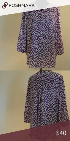 NYDJ  Long Sleeve Blouse Excellent used condition, beatific pleat detail on back NYDJ Tops Blouses