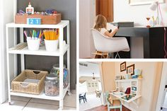 It's back-to-school season and as the days grow shorter and colder, many parents are once again faced with the task of finding a suitable space for their kids to complete all that homework.... spaces that could also be seen as little work stations for kids as opposed to homework desks :)