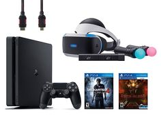 PlayStation VR Start Bundle 5 Items: VR Start Bundle,PS 4 Slim 500GB Console - Uncharted 4,VR game disc PSVR Until Dawn: Rush of Blood   Includes: VR headset, Processor unit, VR headset connection cable, HDMI cable, USB cable, Stereo Read  more http://themarketplacespot.com/playstation-vr-start-bundle-5-items-vr-start-bundleps-4-slim-500gb-console-uncharted-4vr-game-disc-psvr-until-dawn-rush-of-blood/