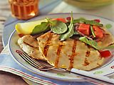 Chicken Paillard w/ Lemon & Black Pepper & Arugula/Tomato Salad (Bobby Flay)