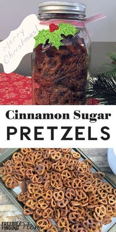 Are you a fan of sweet and salty snacks? Then you have to try this Cinnamon Sugar Pretzel Recipe. This easy recipe takes only minutes to whip up and tastes amazing plus it is perfect for the holidays. Whether you are serving these pretzels at a Christmas Christmas Food Gifts, Christmas Baking, Christmas Christmas, Christmas Sweets, Christmas Pretzels, Christmas Gift Employees, Holiday Gifts, Christmas Meals, Christmas Goodies